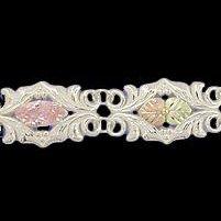 """Black Hills Gold Bracelet Pink CZ Sterling Silver 7"""" Long"""