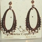 Copper Earrings Fancy Dangle Post Hypoallergenic