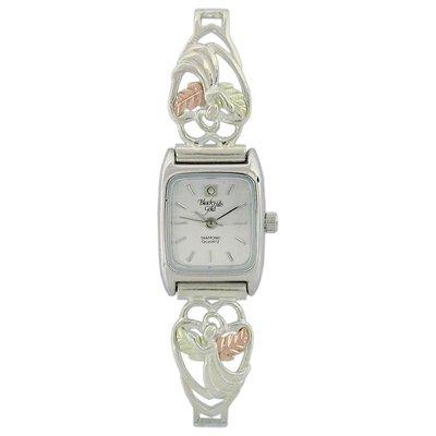 Black Hills Gold Watch Ladies Angel Diamond Sterling Silver