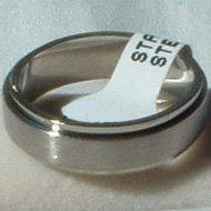 """Stainless Steel Ring Spinner 1/4"""" Textured Unisex"""