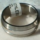 "Stainless Steel Ring Band 5/16"" Unisex 3 Rows Heavy"