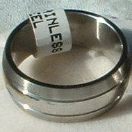"""Stainless Steel Ring Band 5/16"""" Unisex 3 Rows Heavy"""