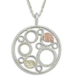 Black Hills Gold Eternal Circles Silver Necklace