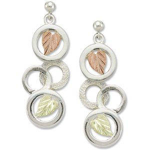 Black Hills Gold Eternal Circles Silver Post Earrings