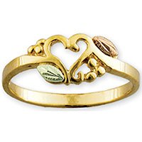 Black Hills Gold Heart Of Vines Ladies Ring