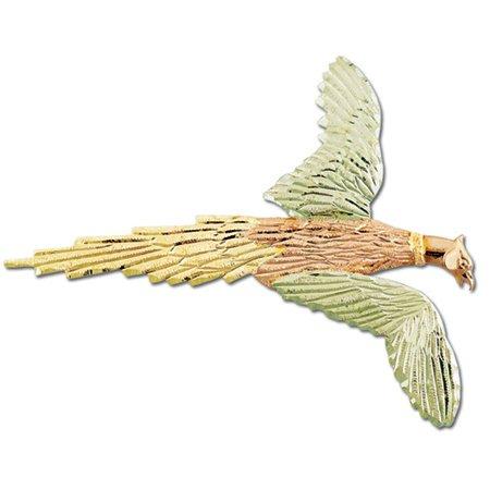 Black Hills Gold Ring Neck Pheasant Brooch