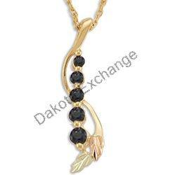 Black Hills Gold Leaves JOURNEY 5 Sapphire Necklace