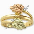 Black Hills Gold 2 Leaf Wrapping Vines Ladies Ring
