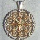 Black Hills Gold Necklace 10K Grape Filigree Silver