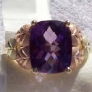 Black Hills Gold Ring Ladies Genuine Huge Amethyst