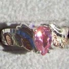 Black Hills Gold Ring Ladies Silver Pear Pink Ice