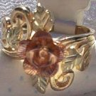Black Hills Gold Ring Ladies 4 Leaf 12K Rose Vines