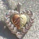Black Hills Gold Necklace Hearts Encased Heart Silver