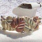 Black Hills Gold Ring Ladies 4 Leaf Overlaid Silver