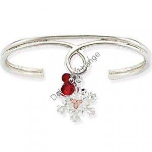 Black Hills Gold Berries Snowflake Silver Cuff Bracelet
