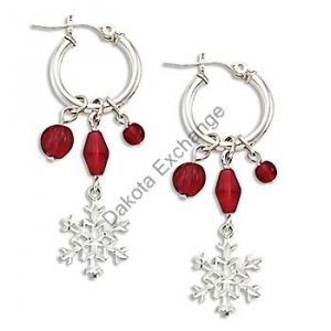 Silver Snowflake & Berries Earrings Landstroms Black Hills Gold