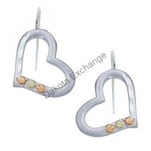 Black Hills Gold Sterling Silver Heart Earrings