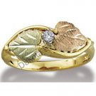 Black Hills Gold 2 Leaves Diamond Ladies Ring .05 TDW