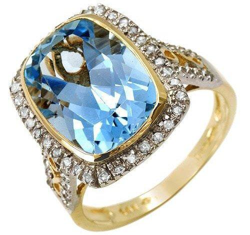 8.30ctw Genuine Diamonds & Topaz 14K Yellow Gold