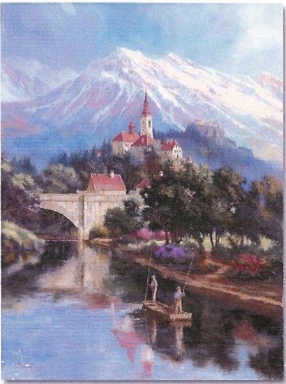 "Limited Edition giclee Nenad Mirkovich's ""Fishing in Alps"""
