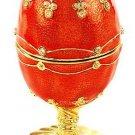 Faberge Style Music Box w/1.84ctw Genuine Sapphire & Topazes