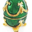 Faberge Style Music Box w/1.77ctw Genuine Topazes & Amethysts