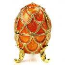 Faberge Style Music Box w/1.79ctw Genuine Topazes