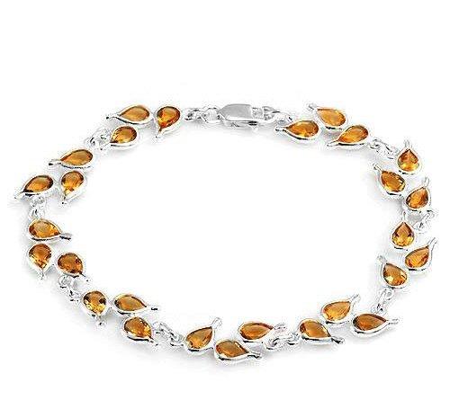 9.45ctw Genuine Citrine Bracelet in 925 Sterling Silver