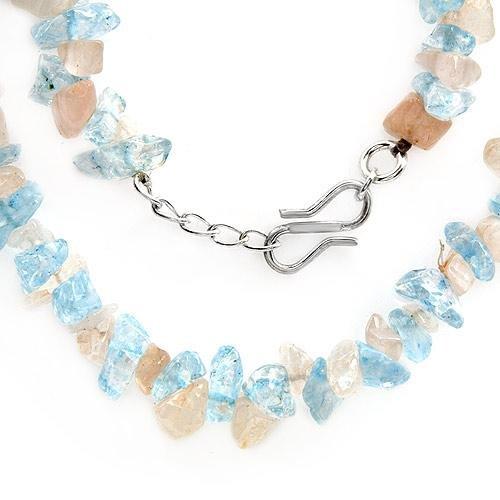 High Quality Necklace w/Genuine Quartz and Genuine Topazes