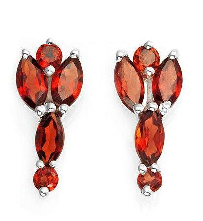 2.55ctw Genuine Garnet Earrings