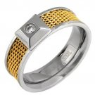 Gent's Comfort fit Ring with Cubic Zirconia