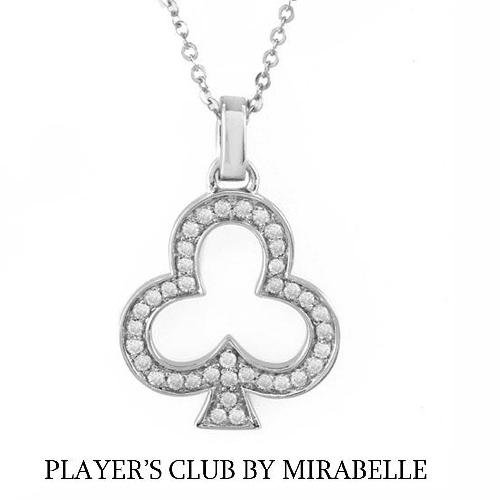 """PLAYER'S CLUB BY MIRABELLE"" Necklace w/Genuine Clean Diamonds"