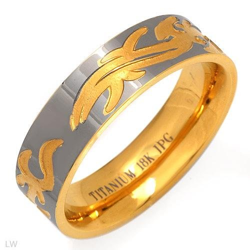 Handsome Gent's Ring in 18K Titanium