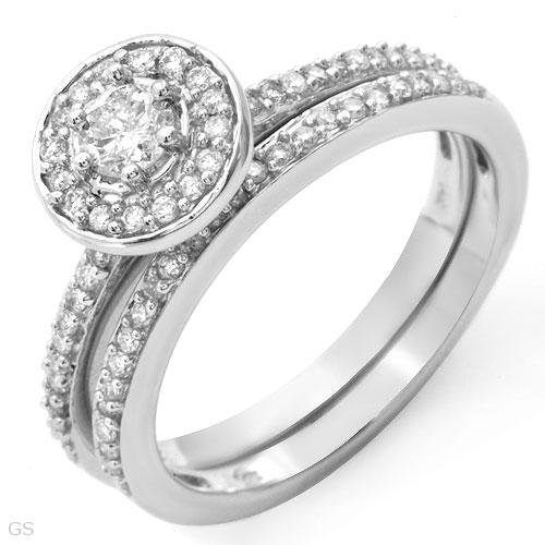Stunning Ring With 0.58ctw Genuine Clean Diamonds