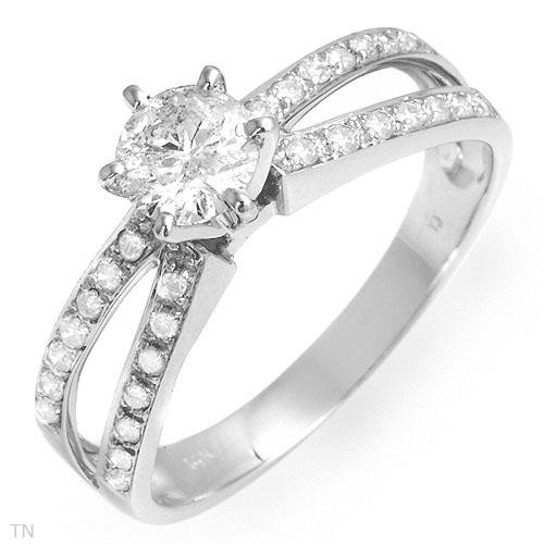 Irresistible Solitaire Plus Ring With 1.05ctw Genuine Diamonds