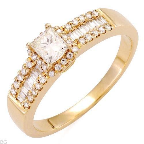 Fabulous Solitaire Plus Ring w/0.65ctw Genuine Super Clean Diamonds