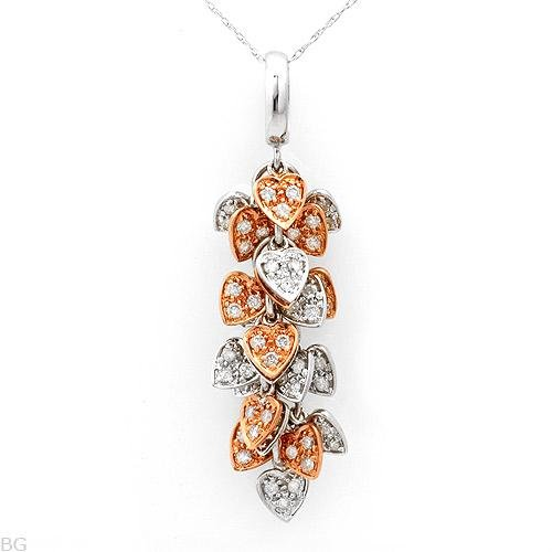 Terrific Necklace with 1.20ctw Genuine Diamonds