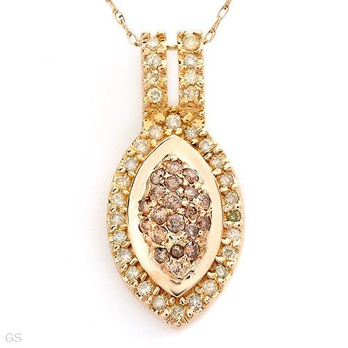 Superb Necklace With 0.50ctw Genuine Diamonds in 14K Yellow Gold
