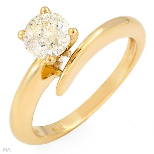 Terrific Certified Solitaire Ring w/1.01ctw Diamonds in 14K Yellow Gold