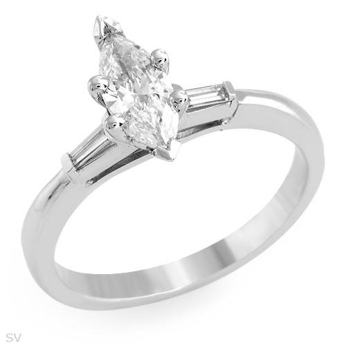 Certified Vibrant Solitaire Plus Ring With 0.68ctw Genuine Super Clean Diamonds - Certified