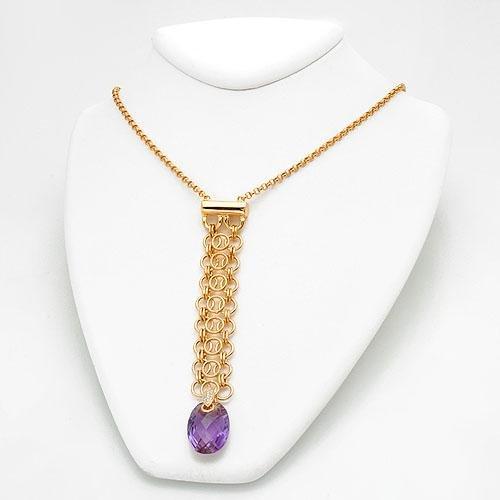LORENZO Marvelous Necklace w/16.09ctw Clean Diamonds & Amethyst
