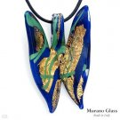 MURANO GLASS MADE IN ITALY! Pleasant Necklace Made in 24K Two Tone Murano Glass