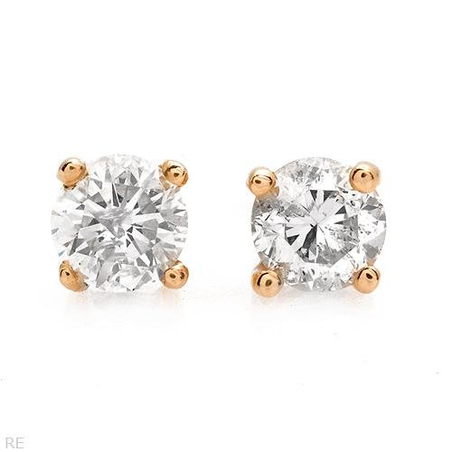 Dazzling Earrings With 0.50ctw Genuine Diamonds