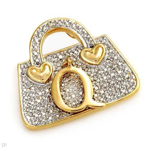 High Quality Handbag Brooch With Genuine Diamond