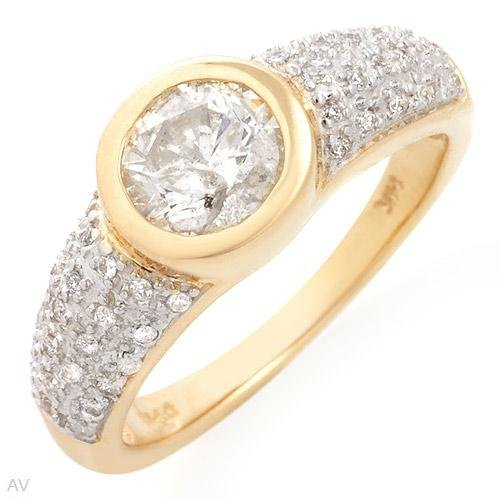 Amazing Solitaire Plus Ring With 1.15ctw Genuine Diamonds
