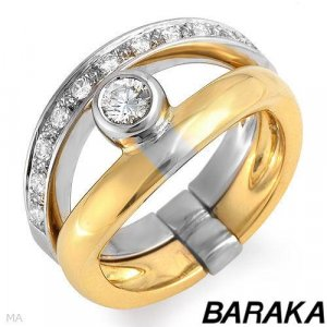 BARAKA Majestic Ring With Genuine Super Clean Diamonds in 18K
