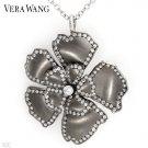 VERA WANG Elegant Necklace/Brooch w/0.90ctw Super Clean Diamonds in 18K WG & Titanium
