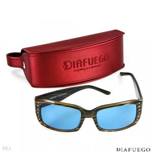 DIAFUEGO Sunglasses With Genuine Clean Diamonds Retails for $500.00