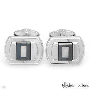 New DOLAN BULLOCK Cuff Links Hematites/Mother-of Pearls