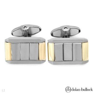 New DOLAN BULLOCK Cuff Links w/Hematites 18K/Tungsten
